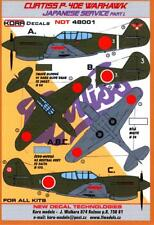 KORA Decals 1/48 CURTISS P-40E WARHAWK Captured Japanese Aircraft Part 1