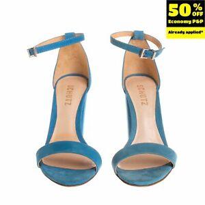 RRP €135 SCHUTZ Nubuck Leather Ankle Strap Sandals Size 36 UK 4 US 6 Block Heel