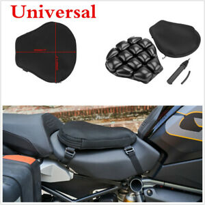 Motorcycle Airbag Seat Cushion Pad 38x36cm Black Universal Breathable + Pump