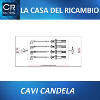 KIT CAVI CANDELA FIAT PUNTO Y 1.2 16V Dal 97<00