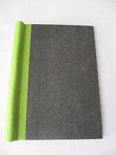 Klemmbinder A5 (30mm Füllhöhe sw marmoriert hellgrüner Klemmrücken Handarbeit