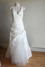Nouveau Ivoire robe de mariée robe, oreasposa, taffetas, UK 12