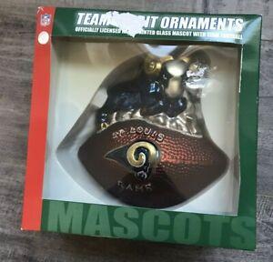 St. Louis Rams Glass Wilson NFL Christmas Ornament Mascot China Item No. 17281