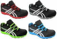 MENS SPORT GROUNDWORK LIGHTWEIGHT TRAINERS STEEL TOE CAP SAFETY TRAINERS SZ 7-11