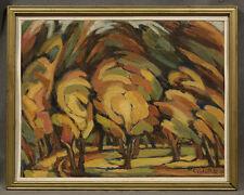 """Impressionist Oil Painting signed Bozana Cviganovic """"Lindenhurst, 1994"""""""