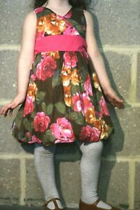 Girls dress floral summer Mothercare age 1.5 2 3 4 5 6 7 8 9 10 years RRP £28