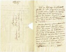 L*3-AUTOGRAPHE-MÉLANIE D'HERVILLY-HANNEMANN-HOMÉOPATHIE-LETHIÈRE-LEMERCIER-1827