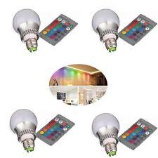 LAMPADA RGB A GLOBO DECORATIVA 5W/PARTE INF. METALLO LAVORATO 16COLORI E27