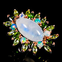 Moonstone Ring Silver 925 Sterling Special Jewelry Price! Size 9 /R141870