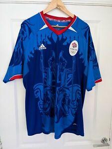adidas Climacool Olympics 2012 Team GB Football Shirt 2XL XXL Blue