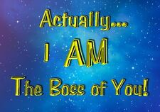 Humor Magnet Funny Actually I AM The Boss of You