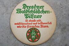15329 alter Bier Deckel Waldschlösschen Pilsner Dresden 1930 beer coasters