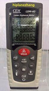 Digital Laser Range Finder Distance Meter Area Volume Tester 0.05-40Meter LDM-40