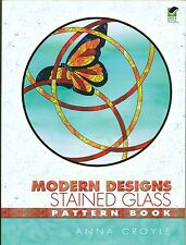 Modern Designs Stained Glass Pattern Book, Unique Variety, Florals, Creatures...
