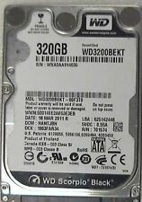 """320GB Western Digital WD3200BEKT 7200rpm 2.5"""" WD Scorpio BLack SATA laptop HDD"""