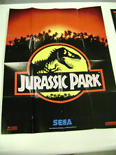 Jurassic Park Sega Game Gear Cd Genesis Game Insert Poster Only #670-3265