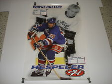 WAYNE GRETZKY Hespeler sticks promo poster 22x34 rare 1998 New York Rangers