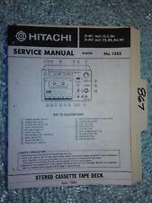 Hitachi d-m1 m2 mkIi service manual original repair book stereo deck tape player