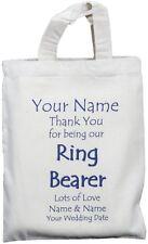 PERSONALISED - RING BEARER - WEDDING GIFT BAG Cotton