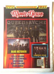 COOL Queensryche Blue October 2016 Music News Local Magazine!