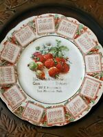 ANTIQUE CALENDAR PLATE 1909