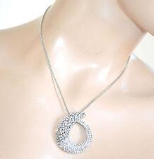 COLLANA donna catenina argento ciondolo serpente strass girocollo collier F305
