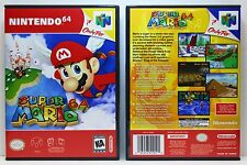 Super Mario 64 - Nintendo 64 N64 Custom Case *NO GAME*