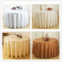 Round Dining Table Cloth Cover Topper Floral Tablecloth Wedding Party 180cm