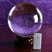 LONGWIN Quartz Crystal Ball 300mm Sphere Table Decorations Centerpieces Gifts