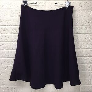 TALBOTS Sz 8 Solid Purple Plum Career Business Skirt 100% Polyester • VGUC‼