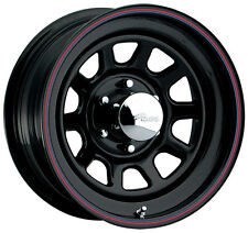 "4-NEW Pacer 342B Black Daytona 16x7 5x114.3/5x4.5"" +0mm Black Wheels Rims"