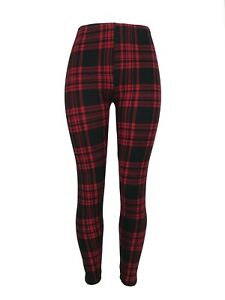 Classic PLAID Red & Black Curvy (10-18) Leggings TC Soft FREE SHIPPING Plus Size