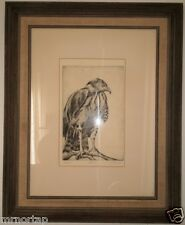 FALCON Sylvia Immel Framed Limited Edition Signed Lithograph Los Angeles Artist