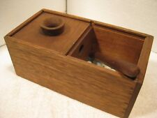 Vintage fraternal organization 'Black ball' wooden ballot box