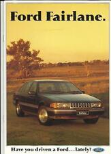 FORD FAIRLANE AUSTRALIAN SALES BROCHURE 1990  1991