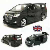 1:24 Toyota Alphard MPV Model Alloy Diecast Pull Back Car Sound Light Kids Toys