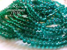 Chapelet de 100 perles en verre à facettes 6x4mm seagreen