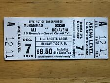 Muhammad Ali vs. Oscar Bonavena Ticket '70 unused Mint
