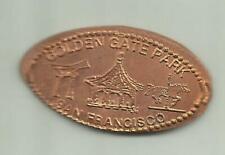 Copper elongated penny (cent) Golden Gate Tour Bus Stop San Francisco Ca Retired