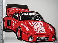 Aufkleber Sticker Lucky Star Jeans Sponsor Motorsport Van Eekeren Decal (3619)