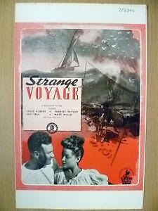 STRANGER VOYAGE: A MONOGRAM PICTURE 1946~E Albert, R Teal, F Taylor & M Willis