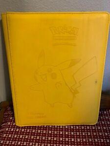 ULTRA PRO Pokemon Pikachu Binder 20 9-pocket Pages Holds 360 Cards USED!!!