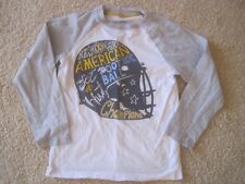 Boy GYMBOREE FOOTBALL HELMET WHITE GRAY LONG SLEEVE TOP SHIRT EUC 7