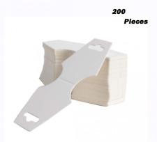Happy Shop 200 pcs Blank White Kraft Paper, Necklace Display Cards Hanger Hangin
