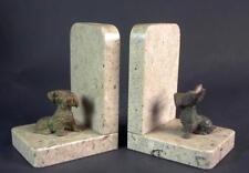 Paar Buchstützen 1920 - Terrier  Foxl