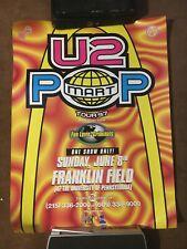 U2 Popmart tour poster, Philadelphia, 1997, Franklin Field