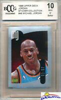 1998 Upper Deck #48 Michael Jordan Sticker BECKETT 10 MINT Bulls HOF