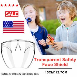 Kids Face Shield Protective Face Cover Transparent Glasses Visor Anti-Spray 2021