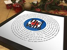 More details for the who won't get fooled again | vinyl mod valentine's day gift for him her wife