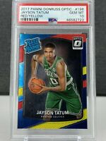 Jayson Tatum 2017 Panini Donruss Optic Red/Yellow Rookie - PSA 10